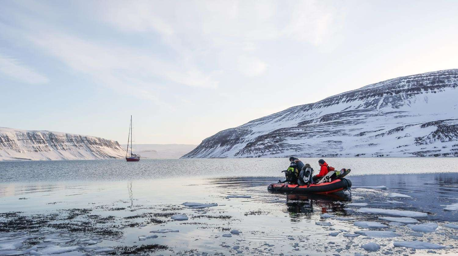 greenland ski and sail in the arctic