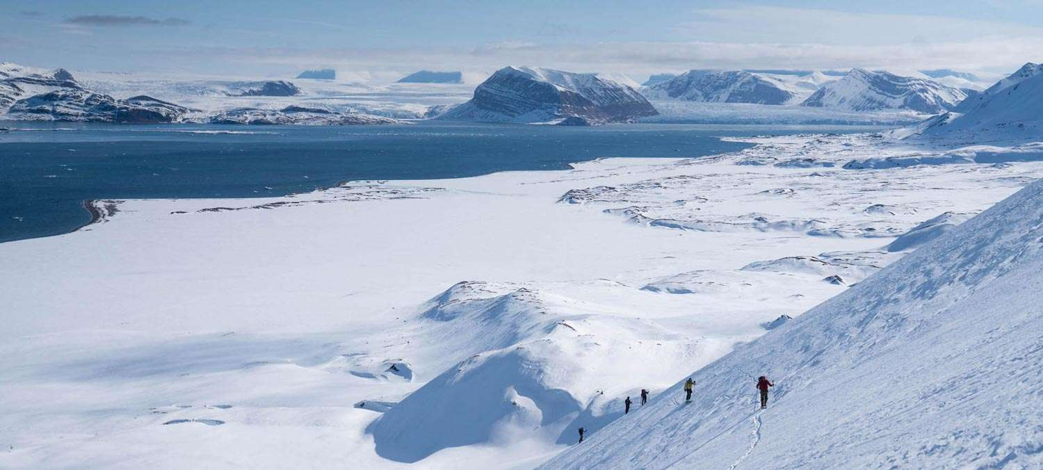 ski and sail in Iceland