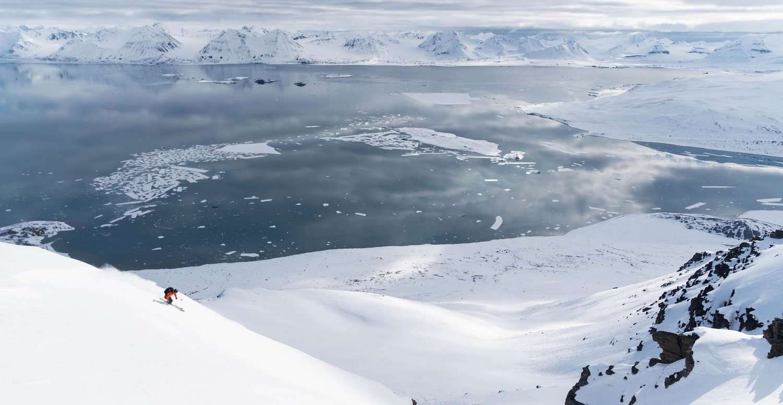 ski untouched arctic slopes
