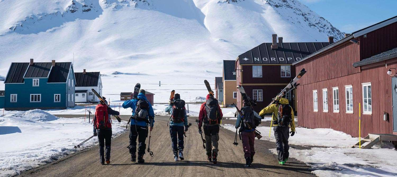 ski and sail Svalbard