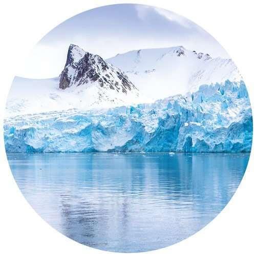 glaciers in Svalbard in Norway