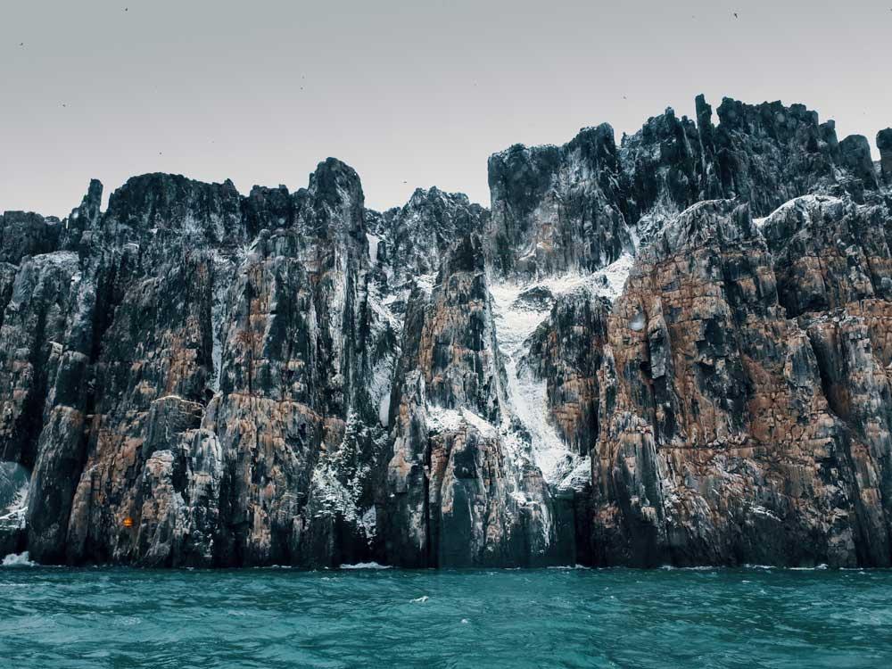 cliffs in svalbard