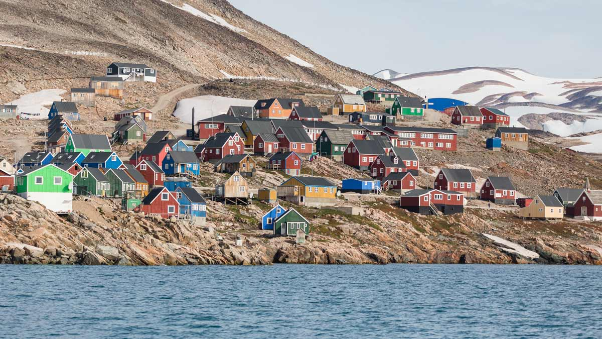 greenlandic village on an expedition cruise